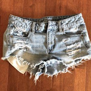 AEO cut off light blue  jeans shorts size 4